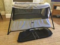 Baby Bjorn travel cot with mattress USED ONCE