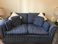 two seater sofas, ( a pair) good condition no marks or rips.