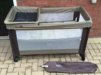 Mamas & Papas Travel Cot and changing table