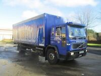 2003 volvo FL curtainside one uk company owner 250000 kms f/s/h full test £40...