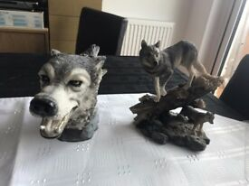 Wolves & Dragon Statues
