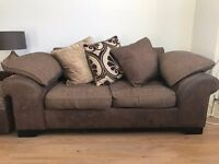 x2 DFS two-seater sofas and foot stool with storage. Used condition but very comfortable!