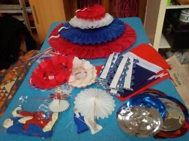Red, white and blue decorations - FREE