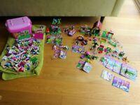 Bundle of 14 Girls Lego Friends Sets - House, Stables, Treehouse, Car & 5 x Pets