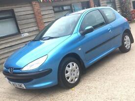 Peugeot 206 1.1 petrol cheap ideal first car with new mot