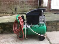 Lightweight electric air compressor, used once.