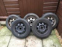 5 polo/seat wheels with tyres