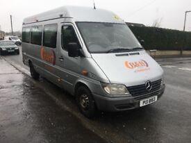 MERCEDES SPRINTER 311 CDI LWB 9 Seater Minibus with PSV..£1700