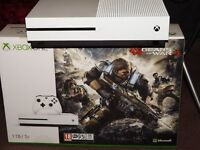 Microsoft Xbox One S 1TB White Console Gears Of War 4/CallOfDutyInfiniteWarfare