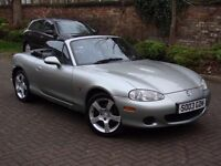 EXCELLENT EXAMPLE!! 2003 MAZDA MX5 1.6 LIMITED EDITION NEVADA ROADSTER CONVERTIBLE, 1 YEAR MOT