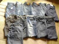 12 pairs of men's jeans for sale