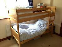 Marks & Spencer's Hastings bunk in natural wood barely used