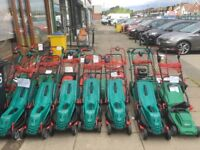 Various Bosch Qualcast flymo electric mowers
