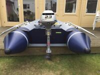 Zodiac C260 inflatable dingy with 2.3hp Honda 4-Stroke outboard for sale
