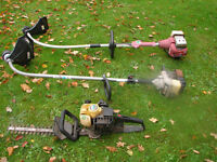 Two petrol powered Strimmers and a Hedge trimmer (ALL SPARES OR REPAIR)