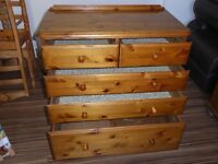 Ducal victoria pine chest of drawers