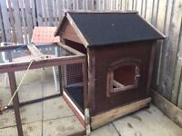 Large Outside Animal Run/Hut/Cage - Must Have!