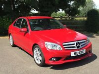 Mercedes Benz 220cdi Sport in Red with Black Leather