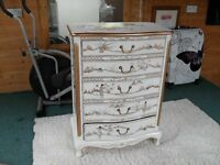 chinese laquered chest of drawers