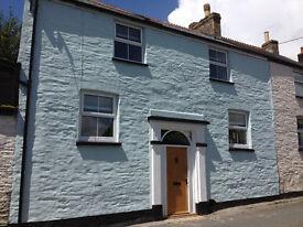 Beautiful unfurnished 3-bed cottage, 7 miles Tamar Bridge, Tideford, SE Cornwall. No fees.