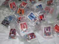 football collect cards about 30 cards.