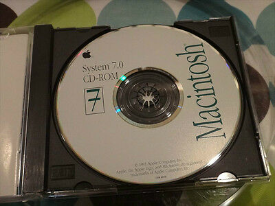 Apple System 7.0 Legacy Full Install CD-ROM Vintage 68000 Motorola Collectible
