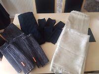 Various table cloths