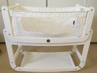 SnuzPod2 3 in 1 Bedside Crib in White