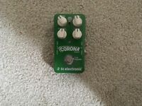 Corona Chorus Guitar Pedal - tc electronic- Mint Condition-