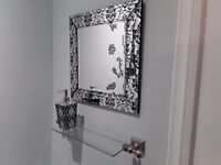 MIRROR with Matching SOAP DISPENSER ***Like New*** Cost £90