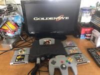 N64 Nintendo 64 Console & 6 Classic Games 007 Zelda diddy Kong etc