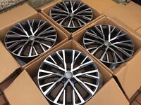 "4 x NEW 18"" AUDI R8 STYLE ALLOY WHEELS 5x112 5 112 POLISHED VW golf mk5 mk6 audi a3 a5 w203"