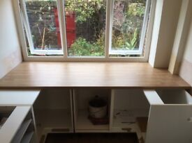 FREE: SORRY THIS ITEM HAS NOW GONE Kitchen Worktops 3 matching lengths New and Unused,