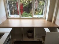 FREE: Kitchen Worktops 3 matching lengths New and Unused, medium oak laminate work top, extra wide