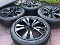 """18"""" VW Golf MK5 Caddy Passat Alloy wheels & Tyres Audi A3 A4 A6 Seat 5x112"""