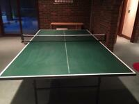 Fold up Butterfly table tennis table and net