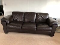4 seater leather sofa and arm chair