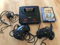 Sega Mega drive 2 console with games + 2 controllers