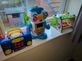Kids toy bundle talking robot etc bargain