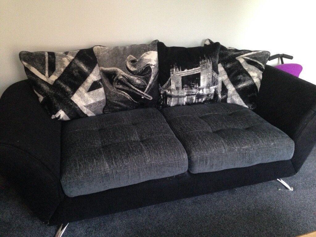 3 seater fabric sofa.