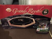 Poker table and 5 game set