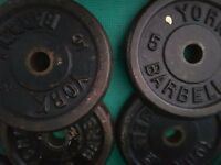 4 x 5kg metal weight plates