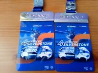 2 Adult Tickets to Le Mans European Series at Silverstone for tomorrow 18th August