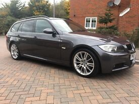 2007 BMW 318 M SPORT TOURING, BLACK LEATHER, GREY, FULL SERVICE HISTORY, 1 PREVIOUS OWNER