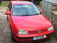 2001 VW Golf SDi with private plate valued at £700-£900. MOT until Feb 17. Car does require some TLC