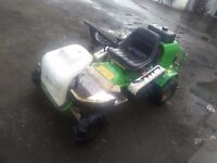 Ride on lawn mover converted