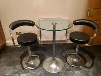 Bar table and 2 bar stools for kitchen