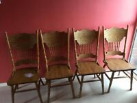 4 solid carver chairs (shabby chic project?)