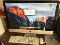 "iMac 27"" Intel Core i5 8GB RAM (upgraded) 1TB HDD Apple Keyboard & Mouse El Capitan"