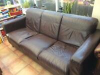 Dark brown settee